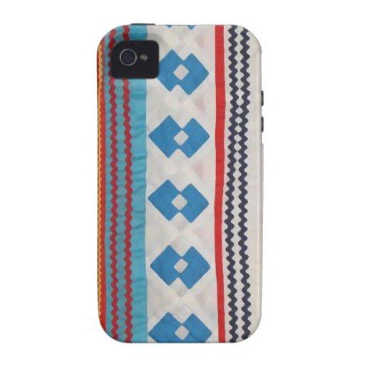 Caso indio del iPhone 4 del edredón del Seminole Vibe iPhone 4 Fundas