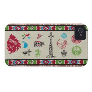 Caso indio del iPhone 4 del nativo americano iPhone 4 Case-Mate Protector