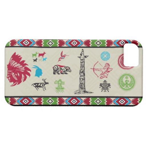 Caso indio del iPhone 5 del nativo americano iPhone 5 Carcasas