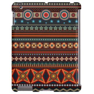 Caso indio nativo étnico del iPad del modelo