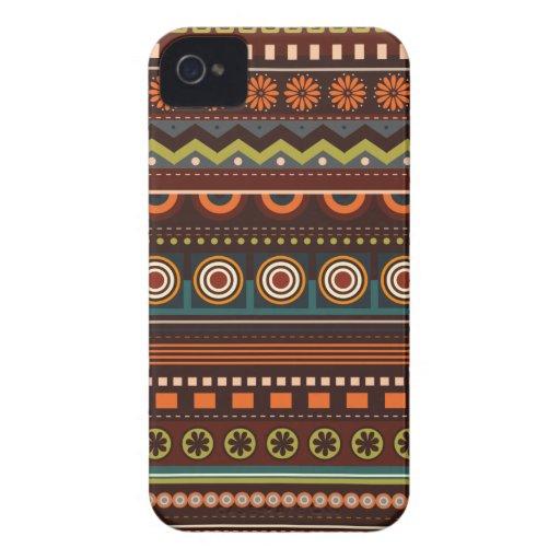 Caso indio nativo étnico del iPhone 4 del modelo Case-Mate iPhone 4 Fundas