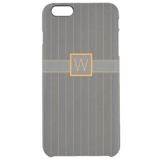 Caso infrecuente del iPhone de las telas a rayas Funda Clearly™ Deflector Para iPhone 6 Plus De Unc