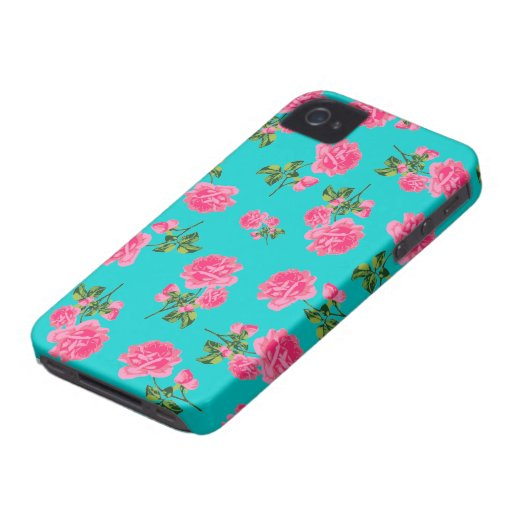 Caso inglés del iphone 4 de los rosas del rosa de  iPhone 4 cárcasa