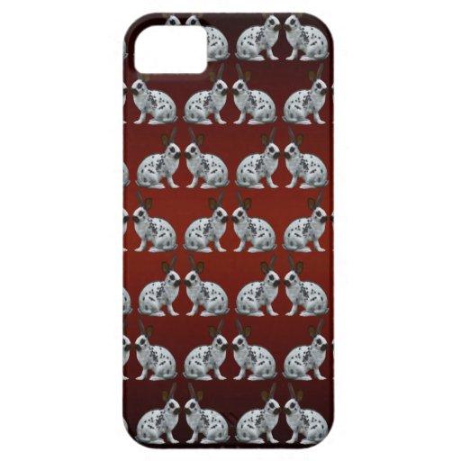 Caso inglés del iPhone 5 del frenesí del conejito  iPhone 5 Carcasa