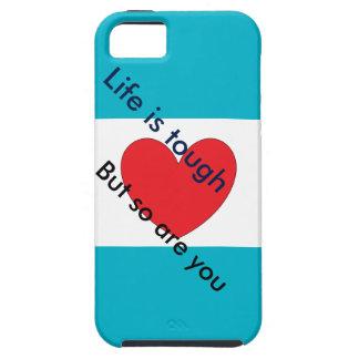 Caso inspirador del iPhone (en azul y blanco) iPhone 5 Case-Mate Carcasas