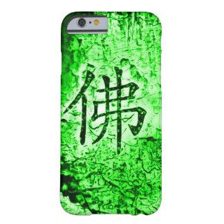 Caso interno chino del arte del Grunge del jade Funda De iPhone 6 Barely There