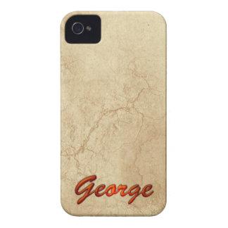 Caso intrépido calificado nombre de GEORGE iPhone 4 Case-Mate Carcasas