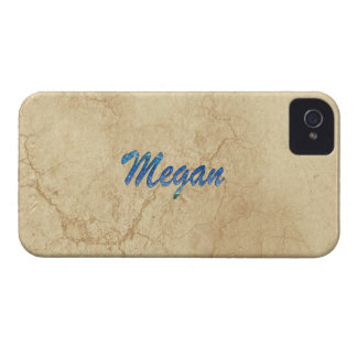 Caso intrépido calificado nombre de MEGAN Case-Mate iPhone 4 Protectores
