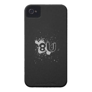 caso intrépido de 8U Blackberry: Estilo 2 iPhone 4 Case-Mate Funda