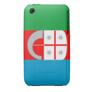 Caso intrépido de Liguria Italia Blackberry Case-Mate iPhone 3 Protectores