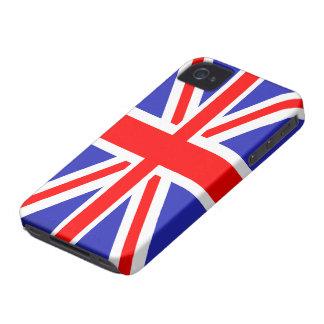 Caso intrépido de Union Jack Blackberry Funda Para iPhone 4