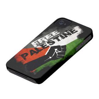 Caso intrépido libre de Palestina Blackberry Case-Mate iPhone 4 Fundas