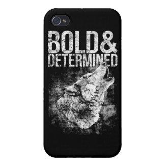 Caso intrépido y resuelto del iPhone 4 del lobo iPhone 4 Carcasas