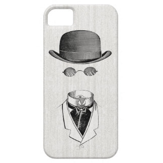 Caso invisible del vintage iPhone5 del hombre Funda Para iPhone 5 Barely There
