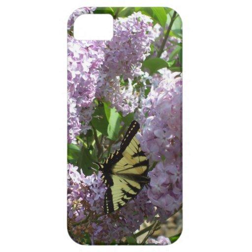 caso iphone4 con la mariposa en diseño de la lila funda para iPhone SE/5/5s