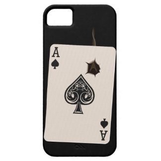 caso iPhone5 con el as de espadas con el agujero d iPhone 5 Carcasa