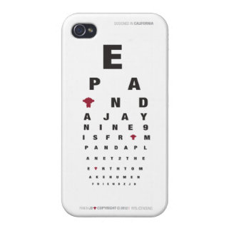 caso iPhone5/diseño de la PANDA J9 Eyevision iPhone 4 Cárcasa