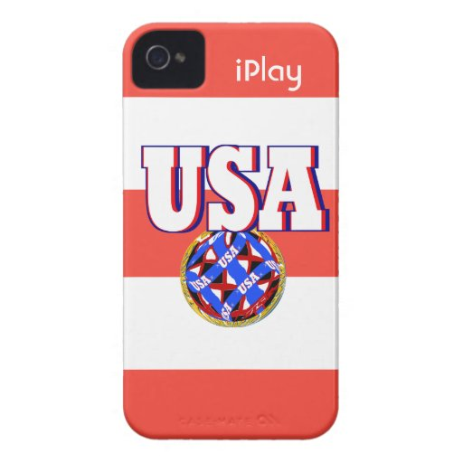 Caso iPlay fresco del iPhone del fútbol de 2013 de iPhone 4 Case-Mate Coberturas