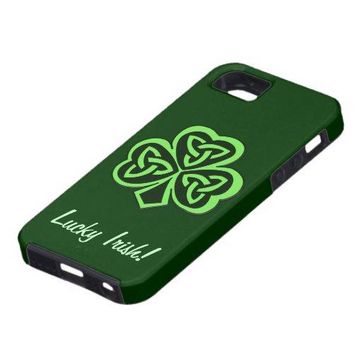 Caso irlandés afortunado céltico del iPhone 5 del iPhone 5 Fundas