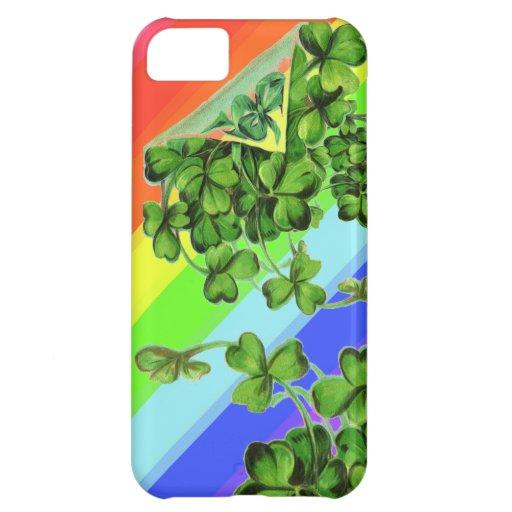 Caso irlandés del iPhone del arco iris Funda Para iPhone 5C