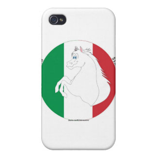 Caso italiano del iPhone del Semental-Estilo 2 iPhone 4 Protector