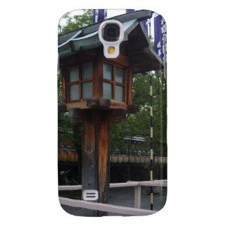Caso japonés de madera del iPhone 3 de la linterna