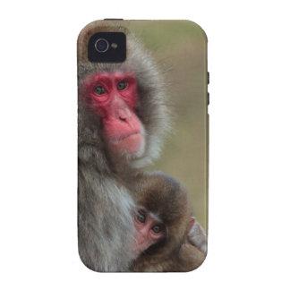 Caso japonés del ambiente del iPhone 4/4S del mono iPhone 4/4S Carcasas