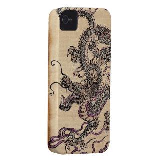 Caso japonés del iPhone del arte de la fantasía iPhone 4 Case-Mate Protector