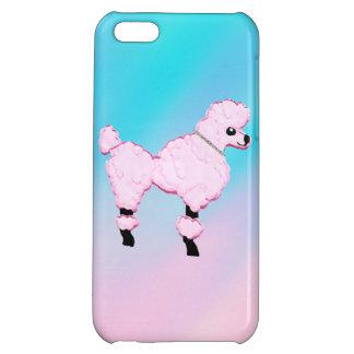 Caso Jeweled caniche rosado del iPhone 5 del cuell