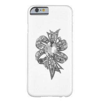 Caso Jeweled y falso del iPhone 6 del diamante Funda De iPhone 6 Barely There