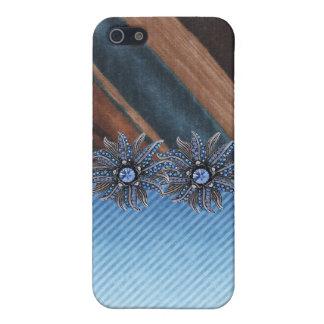 Caso Jeweled y falso I del teléfono del diamante iPhone 5 Carcasas