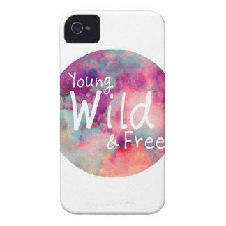 Caso joven, salvaje, y libre del iPhone 4 iPhone 4 Case-Mate Coberturas