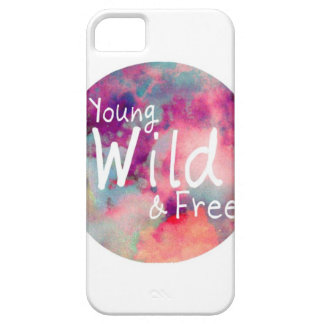 Caso joven, salvaje, y libre del iPhone 5 Funda Para iPhone SE/5/5s