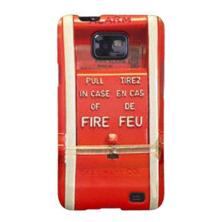 Caso la alarma de incendio samsung galaxy SII funda