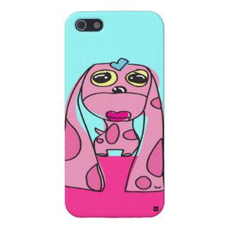 Caso lánguido rosado del iPhone 5 del perro del oí iPhone 5 Cárcasa