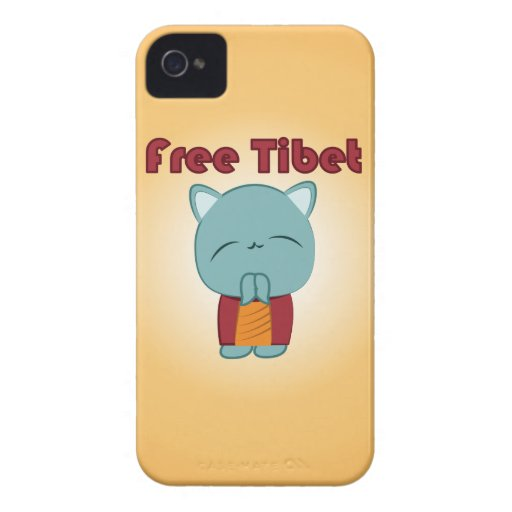 Caso libre del iPhone del gatito de Kawaii Tíbet Case-Mate iPhone 4 Protector