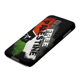 Caso libre del nexo de la galaxia de Palestina Funda Para Galaxy S5