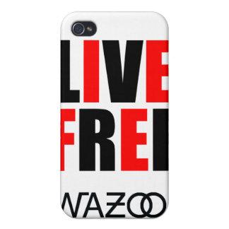 Caso libre vivo del iPhone del rojo iPhone 4 Fundas