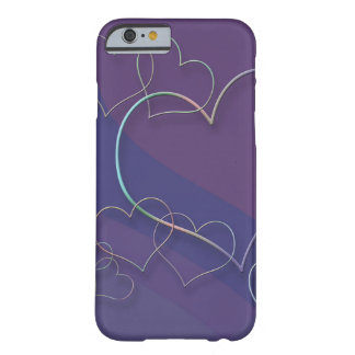 Caso ligado corazones del iPhone 6 Funda Barely There iPhone 6