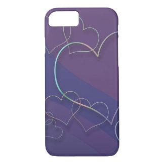 Caso ligado corazones del iPhone 7 Funda iPhone 7