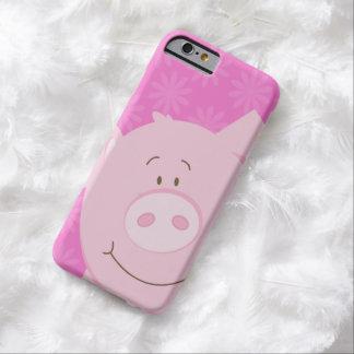 Caso lindo adorable de los niños del cerdo del funda para iPhone 6 barely there