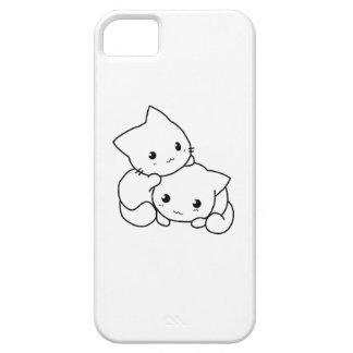 Caso lindo de Iphone del gatito iPhone 5 Fundas