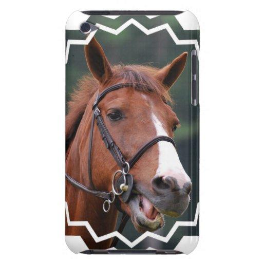 Caso lindo de iTouch del caballo de la castaña iPod Touch Fundas