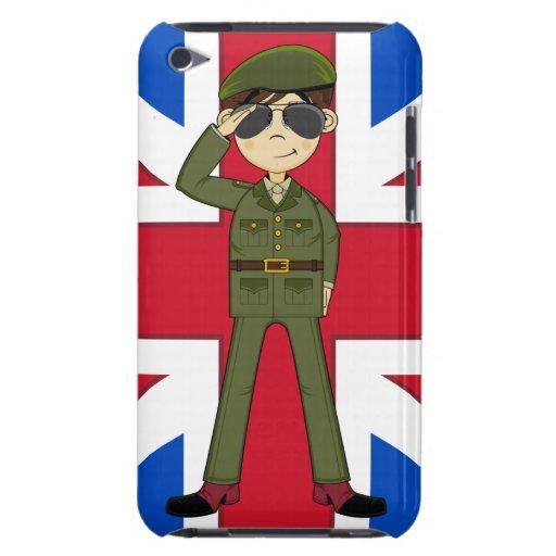 Caso lindo de iTouch del soldado del ejército brit iPod Touch Case-Mate Carcasa