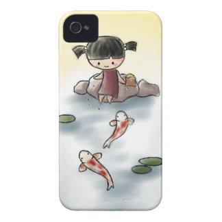 Caso lindo de Koi Iphone 4 iPhone 4 Funda