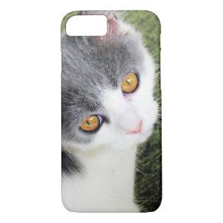 Caso lindo de la imagen del gato funda iPhone 7