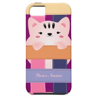 Caso lindo del caso del iPhone 5 del gatito iPhone 5 Case-Mate Protector