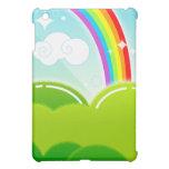 Caso lindo del iPad del arco iris y de la nube de