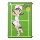 Caso lindo del ipad del chica del tenis
