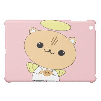 Caso lindo del iPad del gatito del ángel del kawai